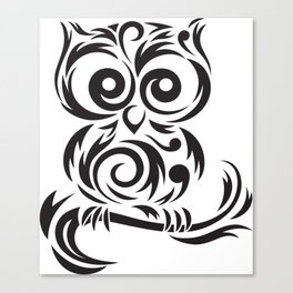 Owl Leaves Canvas Print