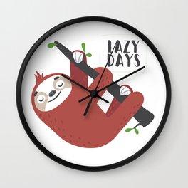 Lazy Sloth Wall Clock