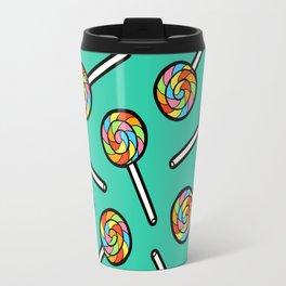 Rainbow Lollipop Pattern Travel Mug