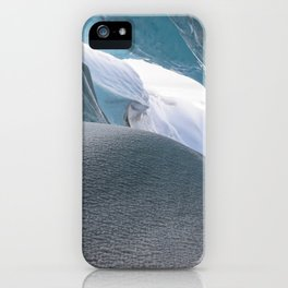 ice cave in Iceland iPhone Case