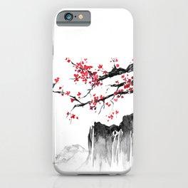 Japanese Flower Landscape iPhone Case