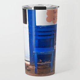 the world is blue Travel Mug