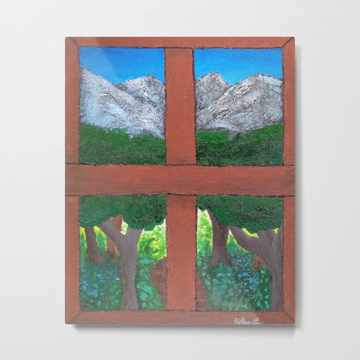 Window To The World Metal Print