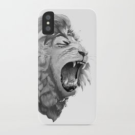 Grayscale Lion iPhone Case