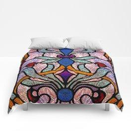 Art Nouveau Stain Glass Victorian Pastel Design Comforters