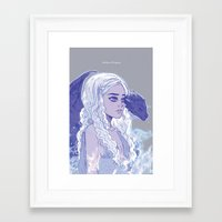 mother of dragons Framed Art Prints featuring Mother of Dragons by Natalie Nardozza