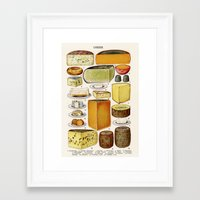 cheese Framed Art Prints featuring CHEESE by Kathead Tarot/David Rivera