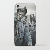 walking dead iPhone & iPod Cases featuring Zombie by Joe Roberts