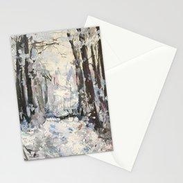 Snowy Landscape Stationery Cards