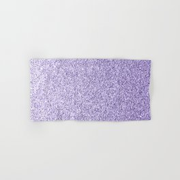 Ultra violet light purple glitter sparkles Hand & Bath Towel