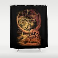 philosophy Shower Curtains featuring Philosophy by Cycoblast Artwork