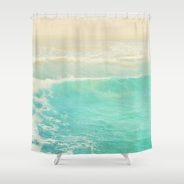 beach ocean wave. Surge. Hermosa Beach photograph Shower Curtain