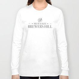 Brewers Hill Wordmark Black Long Sleeve T-shirt