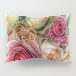Roses - Pink and Cream Pillow Sham