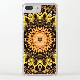Gold Star Bohemian Mandala Design Clear iPhone Case