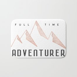 Full Time Adventurer Rosegold Mountains Bath Mat
