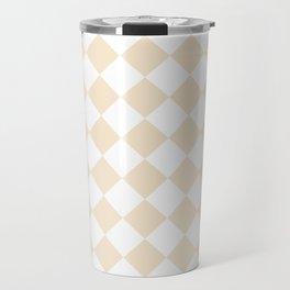 Diamonds - White and Champagne Orange Travel Mug
