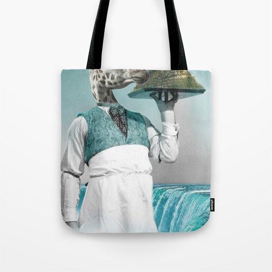 giraffe waiter with bombe alaska Tote Bag