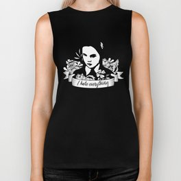 Wednesday Addams - I Hate Everything Biker Tank