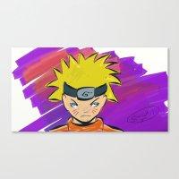 naruto Canvas Prints featuring Naruto by Abba Studios