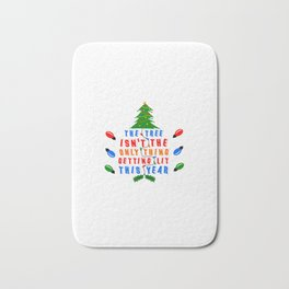 The tree isn't the only thing getting lit this year Bath Mat