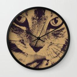 Cat Lick Wall Clock
