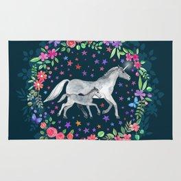 Mama and Baby Unicorn Rug