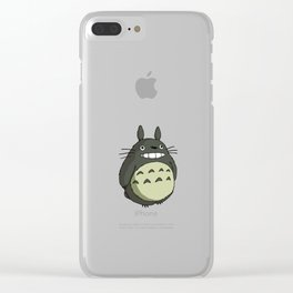 totoroo coloured smile Clear iPhone Case
