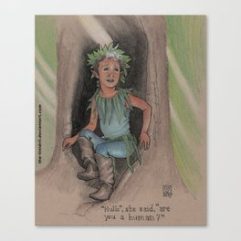 The Little Dryad Canvas Print