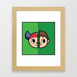 Old & New Animal Crossing Villager Comparison Framed Art Print