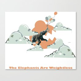 The Elephants Are Weightless Canvas Print
