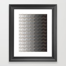 Pattern #6 Greyscale Framed Art Print