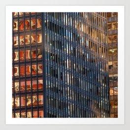 Manhattan Windows - Fire Art Print