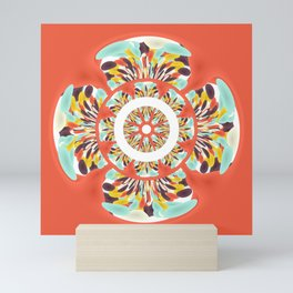 Colorful mandala Mini Art Print