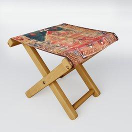 Konya Central Anatolian Niche Rug Print Folding Stool