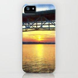 Sunset Under the Coleman Bridge iPhone Case