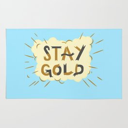 Stay Gold Print Rug