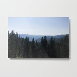 Scenic Tree Lined Valley Photography Print Metal Print