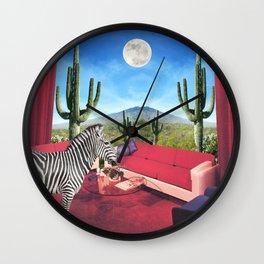 Saguaro Stripes Wall Clock