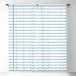 Lined Paper Blackout Curtain
