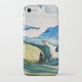 Watercolor Surfer iPhone Case