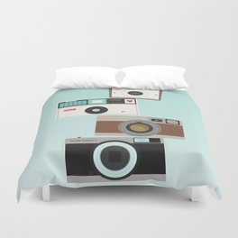 Retro Camera Print  Duvet Cover