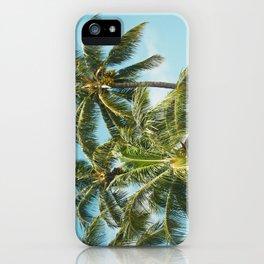 Coconut Palm Trees Sugar Beach Kihei Maui Hawaii iPhone Case