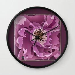 Dark Rose 1 Wall Clock