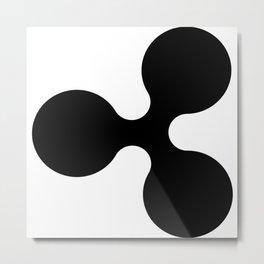 Ripple (XRP) Crypto Metal Print