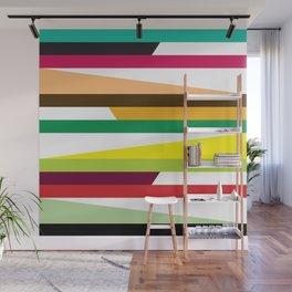 Geometric Pattern 73 (colorful stripes) Wall Mural