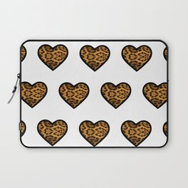 Baesic Leopard Hearts Laptop Sleeve