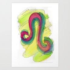 Leo Flow Art Print