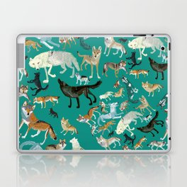 Wolves of the World Green pattern Laptop & iPad Skin