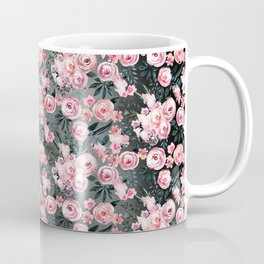 Night Rose Garden Pattern Coffee Mug